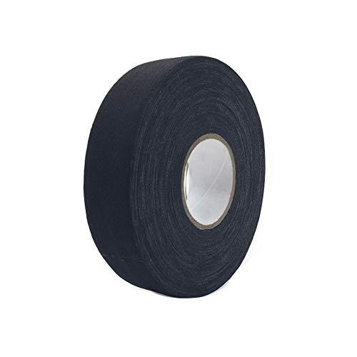 Premium Sport-Tape Hockeyschläger-Tape - Volleyball Praktische rutschfeste Bandage - Premium Athletic Zinkoxid Trainer Tape für Sport und Medizin - 2,5 cm x 25 m Free Size Schwarz -
