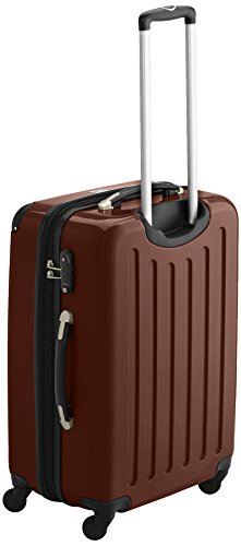 HAUPTSTADTKOFFER - Alex - 2er Koffer-Set Hartschale glänzend, TSA, 65 cm, 74 Liter, Aubergine-Silber Braun