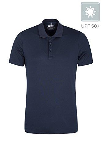 Mountain Warehouse Deuce IsoCool Polo Homme - Séchage Rapide Summer T-Shirt, Tee hautement Respirante, Mèche Haut avec Polo Classique Design - pour Le Voyage Rouge M
