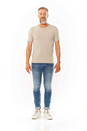 Kitaro Shirt Herrenshirt Shirt T-Shirt 172144 100 black S17-KTS2 Beige