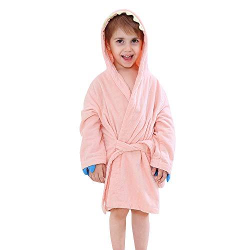 Amphia - (24M-5T Kinder Cape Nachthemd - Langarm/Cartoon/Kapuzenbademantel - Baby-Jungen-Mädchen scherzt Bademantel-Karikatur-Dinosaurier-mit Kapuze Tuch-Pyjamas-Kleidung