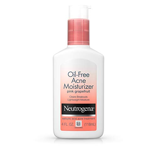 Neutrogena Johnson's Neutrogena Oil-Free Acne Moisturizer, Pink Grapefruit, 4 Fluid Ounce