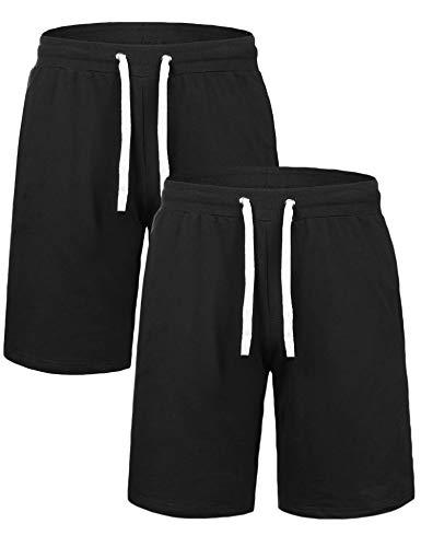 IClosam Hombre Pantalones Cortos Plisados algodón