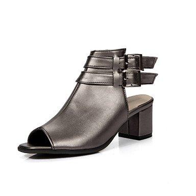 Sandales femmes Printemps Été Automne Nouveauté Chaussures confort Club Glitter Supports personnalisés mariage robe de plein air CasualChunky en similicuir Gray
