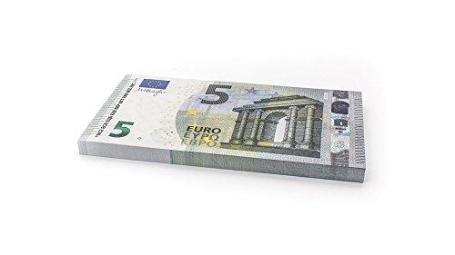 Cashbricks 75 x €5 Euro Spielgeld Scheine - vergrößert - 125{1f785e093b340216ce38f5ee015b0913b8e7e3b15fd1d059be478fad9784c36b} Größe