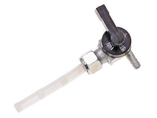 Benzinhahn manuell mit Kunststoffhebel für Tomos A3, A35 (Überwurfmutter)