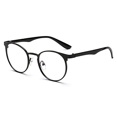Juleya Männer Frauen Transparente Gläser - Anti Blaues Licht Klare Linse Brillengestell für Computer/PC Spiel/TV / Handy Lesen Brillen