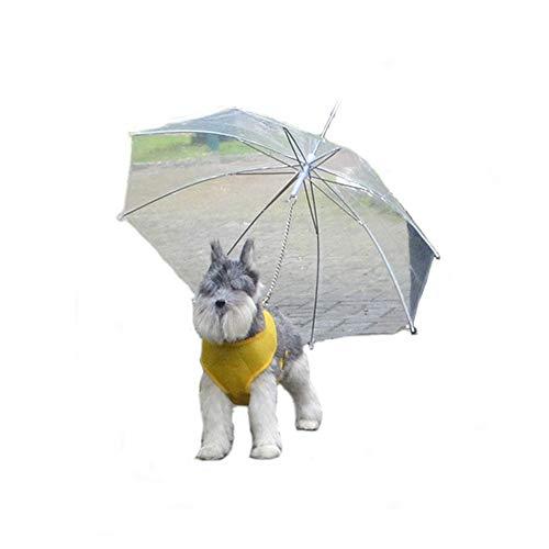 Wanww Hund Regenschirm, Transparent Wasserdicht Kleine Größen Haustier Umhang Folding Puppy Pet Dog Regenmantel-Regenschutz Und Schnee Protectio -