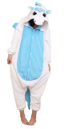 Stich Erwachsene Für Kostüm - Amour-Tier Onesie Pyjama Blau Stich Kostüme Schlafanzug Erwachsene Unisex Tieroutfit tierkostüme Jumpsuit (m, HM002bl)