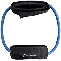 ProSource Leg Resistance Exercise Band Heavy Duty Tube with Padded Ankle Cuffs for Lower Body Workouts
