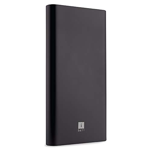 iBall 10000mAh Li-Polymer Slim Design Smart Charge Metal Powerbank - LPM10000 (Black)