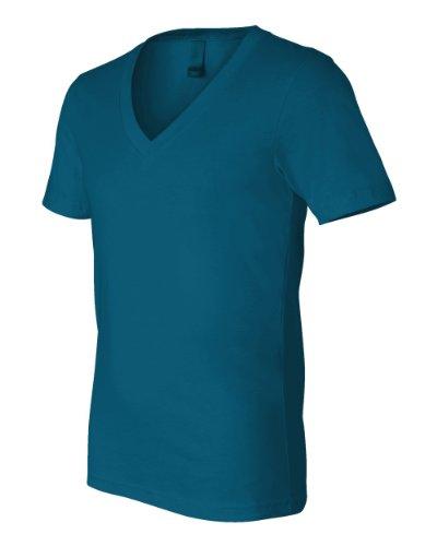 Bella+Canvas: Unisex Jersey Deep V-Neck T-Shirt 3105 Bleu - Bleu sarcelle profond