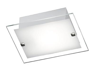 Honsel Leuchten Deckenleuchte weiß / mattnickel, Glas weiß, Rand klar 27481 von Hugo Honsel GmbH auf Lampenhans.de