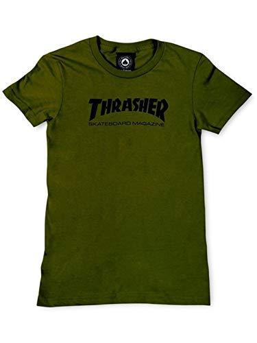 Thrasher t-shirt donna skate mag logo verde scuro (s, verde scuro)
