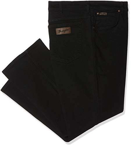 Wrangler Texas Stretch W12109004, Größe 34/32, Black Overdye -