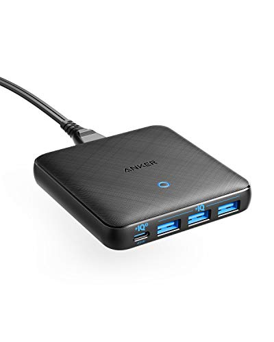 PowerPort Atom III Slim USB-C Ladegerät, 65W 4-Port PIQ 3.0 & GaN Netzteil mit 45W USB-C Eingang|1|1|18 Monate|Charger|Download|Download