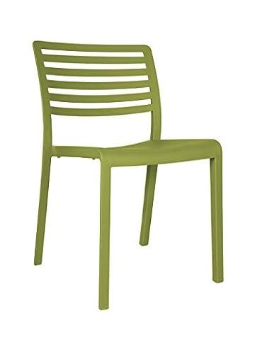 Resol chaise Lama - couleur vert olive, set de 2 unités