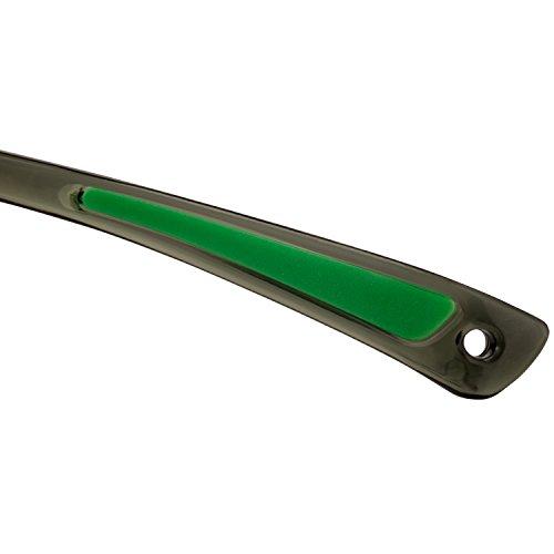 NoCry Sonnen-Schutzbrille mit grün getönten, kratzbeständigen Gläsern, Seitenschutz und rutschfesten Bügeln, UV 400 Schutz, verstellbar, schwarz grüner Rahmen. - 9