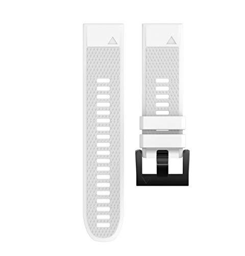 Vamoro Ersatz-Silikagel-Schnellmontageschlaufe Alta Armband Weiches Verstellbares Sport Ersatzarmband Fitness Zubehörteil (Weiß)