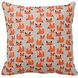 cq4Rln 'COMI Woodland Fox Cute Retro Whimsical Hipster Foxes Throw Pillows Covers 18 x 18 \