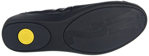 FitFlop F Pop Tm Ballerina, Ballerines Femme Noir (All Black Leather)