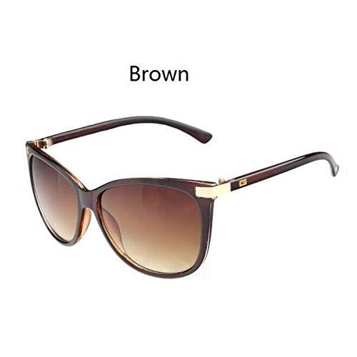 KCJKXC Frauen-Marken-Design-Sonnenbrille- Logo Auf Der Tempel-Sonnenbrille Cat Eye-Sonnenbrille Für Frauen
