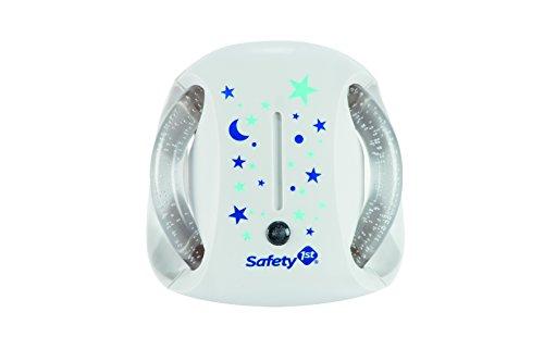 Safety 1st Luce Notturna Bambini, con Sensore Crepuscolare, Bianco/Blu/Turchese