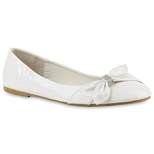 Ja Wirklich Damen Ballerinas Schleifen Klassische Ballerina Strass Flats  Übergrößen Gr 3644 Schuhe 143309 Weiss Schleife Steinchen 42 Flandell ... 7ded3678cf