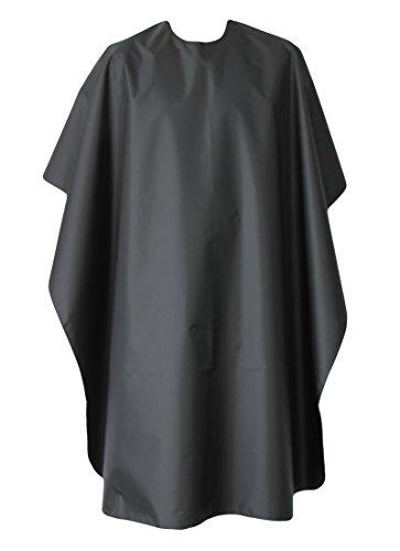 Diawell Friseurumhang | Wasserabweisend Haarschneideumhang für Friseursalon | Cape Salon | Friseurschere -Zubehör Friseurcape | Frisörumhang Friseur Umhang schwarz