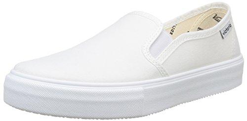 Calego - Slip On Lona, Sneakers  da unisex adulto, bianco(blanc (blanco)), 41