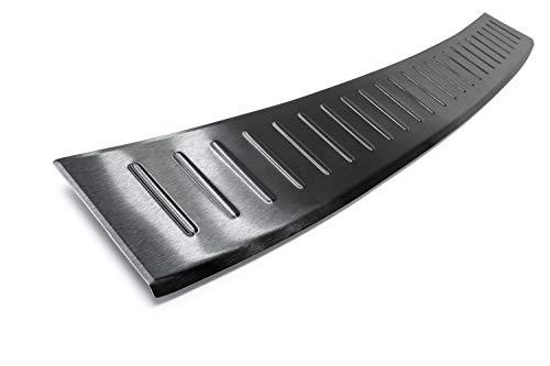 Preisvergleich Produktbild Tuning-Art L306 Edelstahl Schwarz Ladekantenschutz mit Abkantung fahrzeugspezifische Passform
