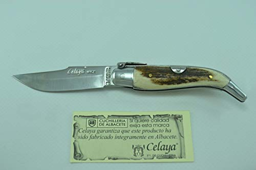 Navaja Celaya Clásica Albaceteña Aluminio Asta Ciervo 7 cm