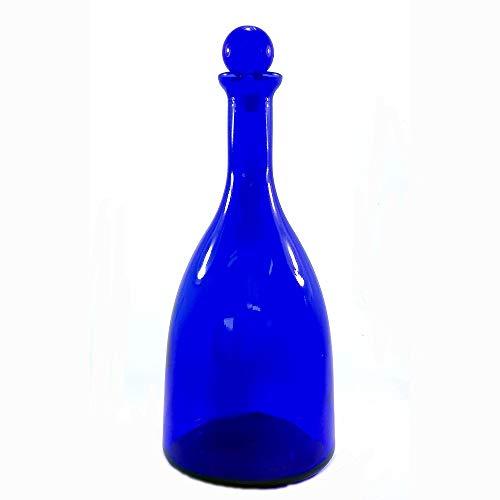 BrandPrint Bottiglia in Vetro per Acqua solarizzata Colore Blu MOD. Viola 750ml con Tappo a Sfera