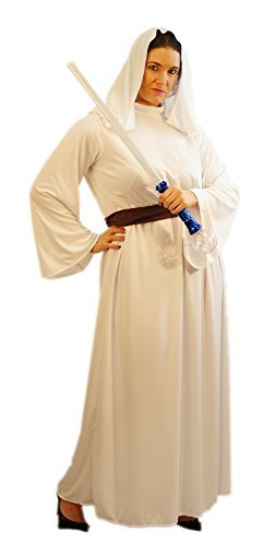 CL COSTUMES Welt Buch Tag-Film-Kriege-Leia-Cosplay Kriege Prinzessin Damenmode Kleid Kostüm - Von Größen Teen bis L Erwachsene - Wie abgebildet, Women: 14-16 (Teen Prinzessin Kostüm)