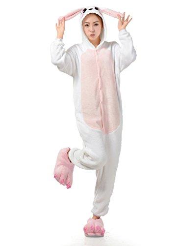 Cliont Tier Onesie Niedliche Kaninchen Pyjamas Kigurumi Weihnachten Nachtwäsche Kostüm Anime (Billig Uk Anime Kostüme)