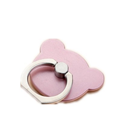 TBOP PHONE RING BUCKLE THE BEST OF PLANET SIMPLE & STYLISH Phone ring bracket bear ring buckle paste men and women cartoon couple super cute wholesale in rose gold color