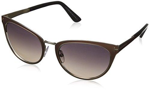 Tom Ford Damen Sonnenbrille FT0373,, Gr. One size,Grau (Brown)