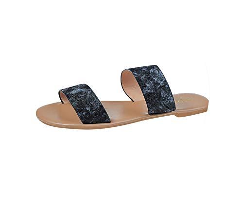 New Summer Beach Flip Flops Casual Flats Open Toe Vintage Roman Plus Size Flat Slippers Women's Female Shoes,Black,38 -