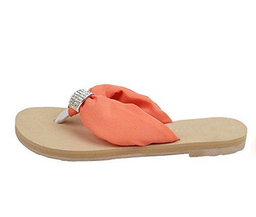 sports shoes 226d6 51259 Dayiss®Elegant Damen Strass Chiffon Sandaletten Flip Flops ...