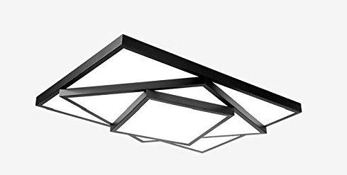 Ameride LED Deckenlampe für Wohnzimmer Schlafzimmer Kinderzimmer Schwarz US-6906CB-48WW 3840lm (630x400x100mm) [Energieklasse A++]