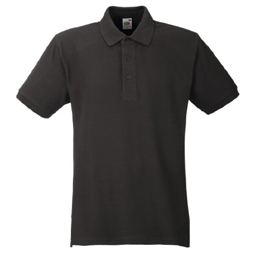 Fruit Of The Loom Herren Polo-Shirt, Kurzarm, 100% Baumwolle Weiß