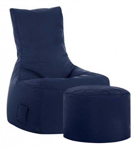 Sitzsack-Set Scuba Swing + Hocker Jeansblau