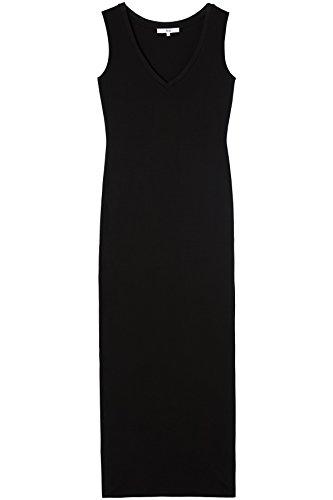 FIND Damen Maxi Jersey-Kleid Schwarz (Black)
