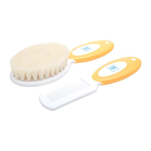 Mee Mee Soft Grip Brush & Comb Set (Orange)  available at amazon for Rs.295