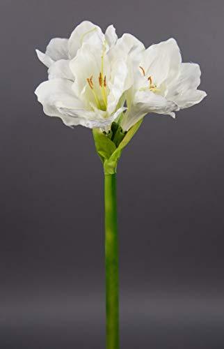 Große Amaryllis 65cm weiß-Creme GA Seidenblumen Kunstblumen künstliche Blumen