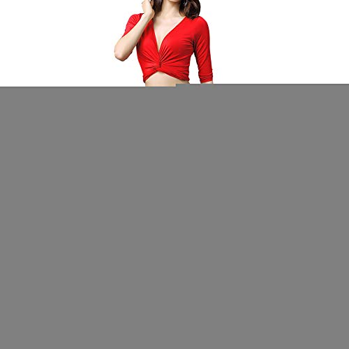 Girl Rote Kostüm Harem - Frauen Dame Girl Separate Dancewear Bauchtanz Gym Praxis Kleidung Top Rock(Rot + L)