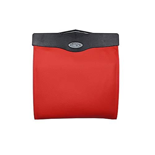 Versteckte Papierkorb (Auto MüLleimer Autositz ZurüCk HäNgen Aufbewahrungsbox Versteckt Falten Aufbewahrungstasche Multifunktions-Led-Licht Aufbewahrungstasche,red)