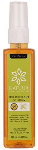 NATUUR Bug Repellant Outdoor Oil Spray - 100 ml (Yellow)
