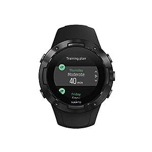 Suunto 5 Reloj multideporte GPS, unisex adulto, cristal mineral, acero inoxidable, silicona, negro (all black), SS050299000