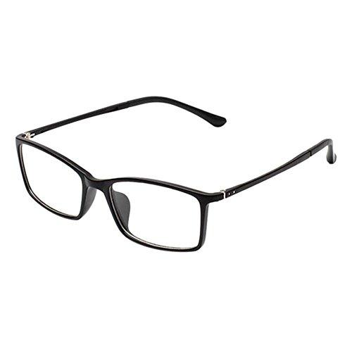 Zhuhaixmy Retro TR90 Kurzsichtigkeit Komfortabel Brille Schlank Felge Computer Goggles Kurzsichtig Linsen für Studenten (Stärke -0.5, Matt Schwarz) (Diese sind nicht Lesen Brille)